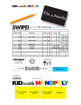 Kid Made Monopoly: Adding and Subtracting Decimals