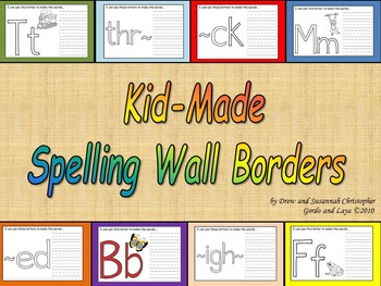 Kid-Made Spelling Wall Borders