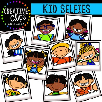 Kid Selfies {Creative Clips Digital Clipart}