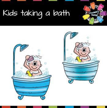 Kids Taking a Bath