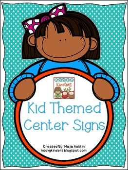 Kid Themed Center Signs