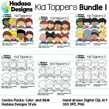 Kid Toppers Clip Art Set