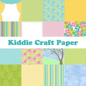 Kiddie Craft Printable Digital Paper