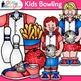 Kids Bowling League Clip Art {Sports Equipment for Gym Tea