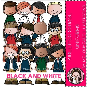 Kidlettes School Uniforms by Melonheadz BLACK AND WHITE