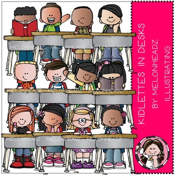 Kidlettes in Desks by Melonheadz COMBO PACK