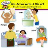 Kids Action Verbs 4 Clip Art