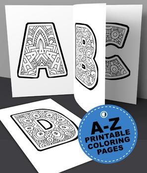 Kids Alphabet Coloring Book Pages - Printable PDF