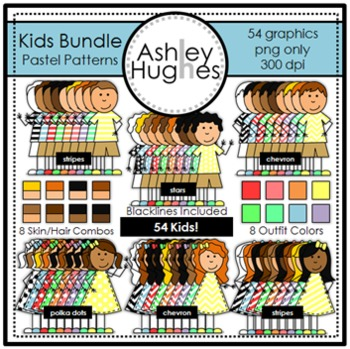 Kids Bundle Pastel Patterns {Graphics for Commercial Use}