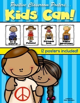 Kids Can {Classroom Posters for Positive Behaviors} Kinder
