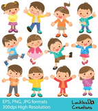 Kids Character Digital Clip Art