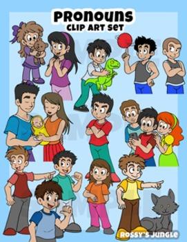 Kids Clip art: Pronouns (August 2016)