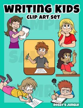 Kids Clip art: Writing or taking notes