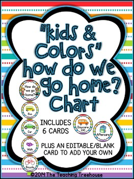 """Kids & Colors"" How Do We Go Home? Clip Chart"