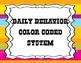 Jubilee's Junction - BEHAVIOR Color Coded System POSTER Set/7