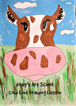 Kids Drawing Lesson: Drawing a Cow Farm Lesson Art and Lit