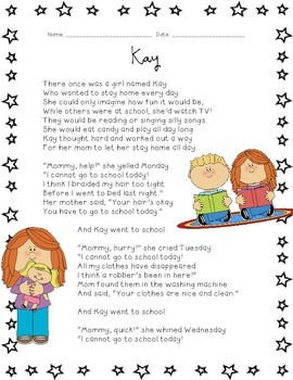 Kids Like Me!  Kay's Story: Reading Comprehension and Writ