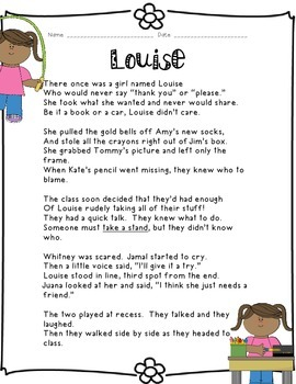 Kids Like Me!  Louise's Story: Reading Comprehension and W