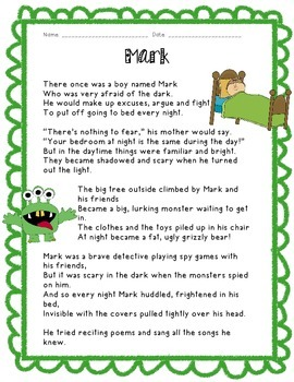 Kids Like Me!  Mark's Story: Reading Comprehension and Wri