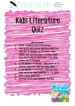 Kids Literature Quiz
