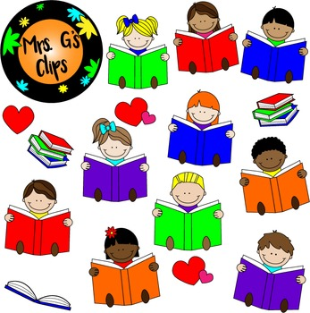 Kids Love Reading! Clip Art