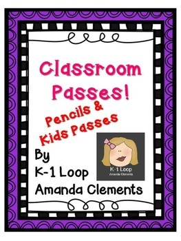 Kids & Pencils Hall Passes! FREE