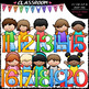 Kids With Math Symbols and Numbers Clip Art Bundle 1 (3 Sets)