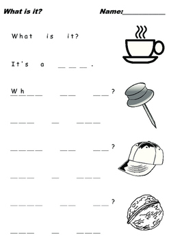 """Kids Writing Practice """"What is it?"""" Q&A 3 Letter Words II"""
