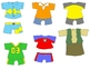 Kids in Action:  Paper Dolls for Spring and Summer Clip Ar
