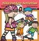 Kids outdoor activities clip art-Color and B&W-
