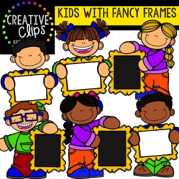 Kids with Fancy Frames {Creative Clips Digital Clipart}