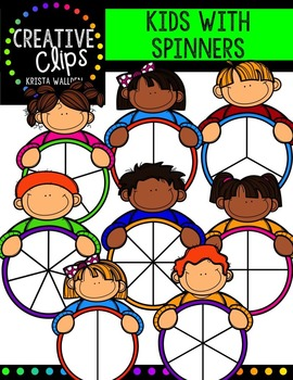 Kids with Spinners {Creative Clips Digital Clipart}