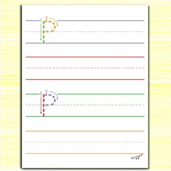 Handwriting Practice - Letter P Worksheets