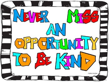 Kind Classroom Poster
