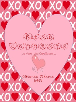 Kind Comments Valentine Card Lesson