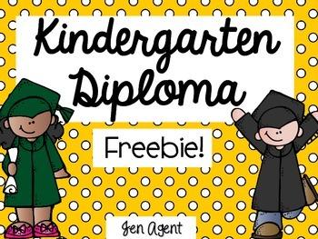 Kindegarten Diploma {freebie}