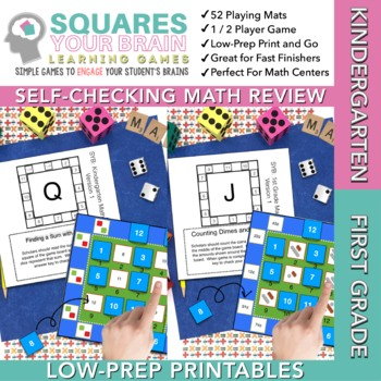 Math Game Squares Your Brain™ BUNDLE Kinder/1st Grade