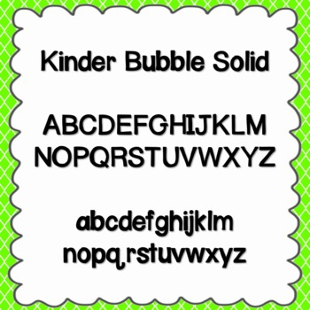 Kinder Bubble Solid Font {personal and commercial use; no