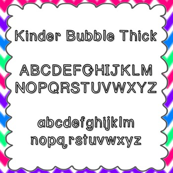Kinder Bubble Thick Font {personal and commercial use; no