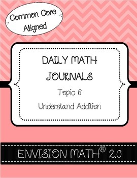 Kinder Common Core Daily EnVision Math® Journals, Topic 6