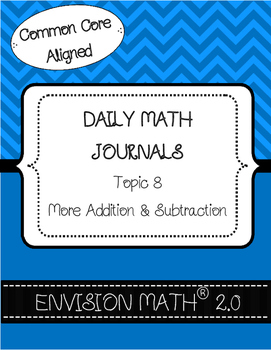 Kinder Common Core Daily EnVision Math® Journals, Topic 8