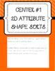 Kinder Common Core Envision Math® Centers -Top. 13 Analyze