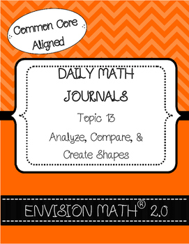 Kinder CommonCore EnVision Math® Journals,Topic 13 Analyze