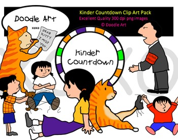Kinder Countdown Clipart Pack