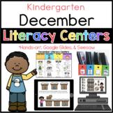 Kinder December Literacy Centers