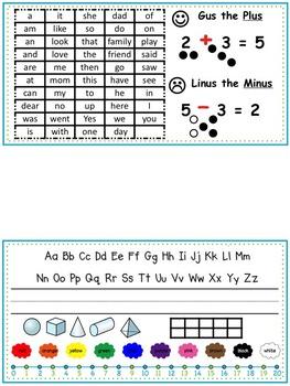 Kinder Desk Tag/Cheat Sheet
