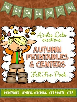 Kinder Fall Fun Pack: Halloween & Autumn Themed Printables