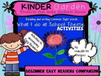 FREEBIE~Kinder Garden: Companion to BEGINNER What I do at