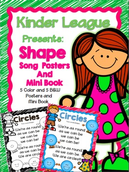 Kinder League Shape Song Posters and Mini-Book