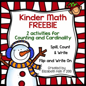 Kinder Math FREEBIE: 2 activities for Counting and Cardinality
